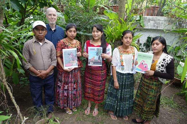 Mayan speaking people Qeqchi Kekchi Kakchiquel Cakchiquel Pokomchi at MayanToons FLAAR Reports office printer evaluations