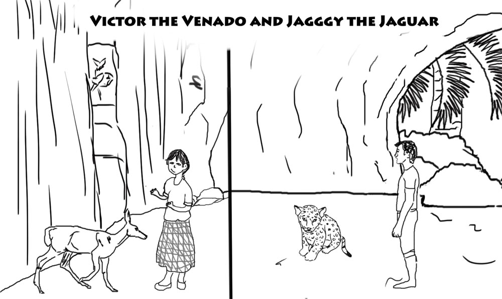 Maya comic book page FLAAR MayanToons autobiography Nicholas Hellmuth Victor and jagggy jaguar